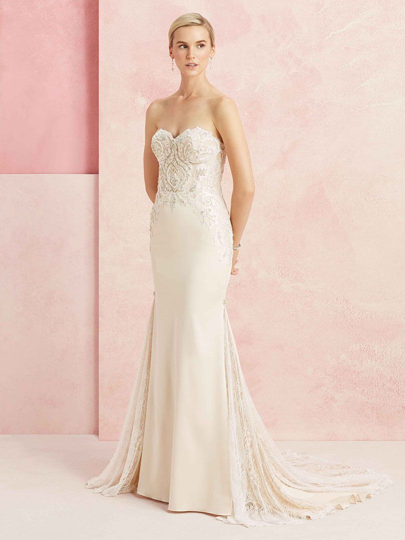beloved by casablanca bridal BL224 Confidence fit and flare strapless gown