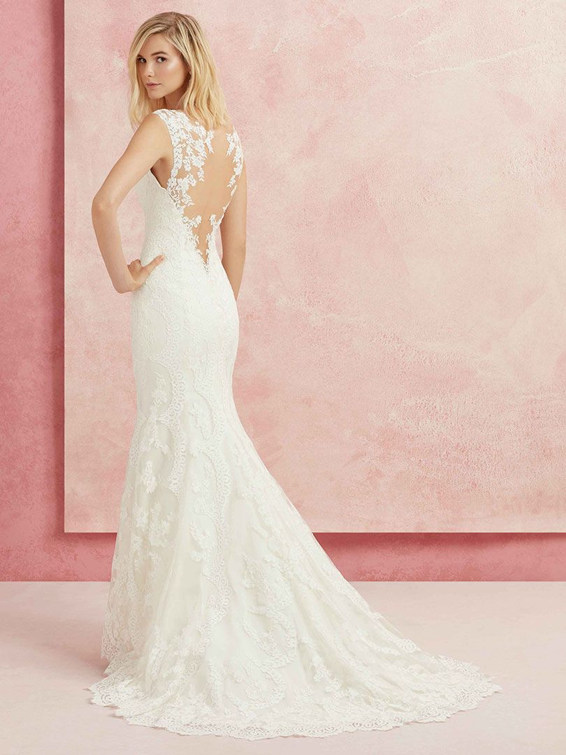 Lace Bohemian Wedding Dress with Illusion Back - Beloved by ...