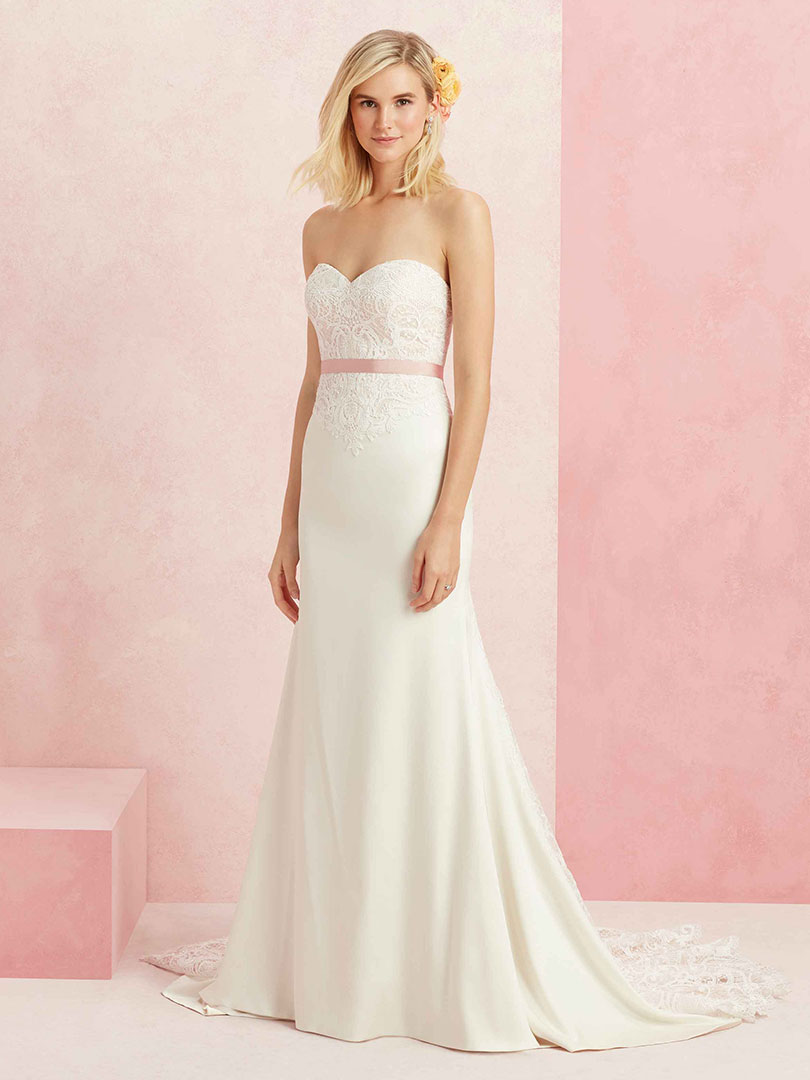 Blush Satin & Lace Wedding Gown: Style #BL221 Affection / Blog ...