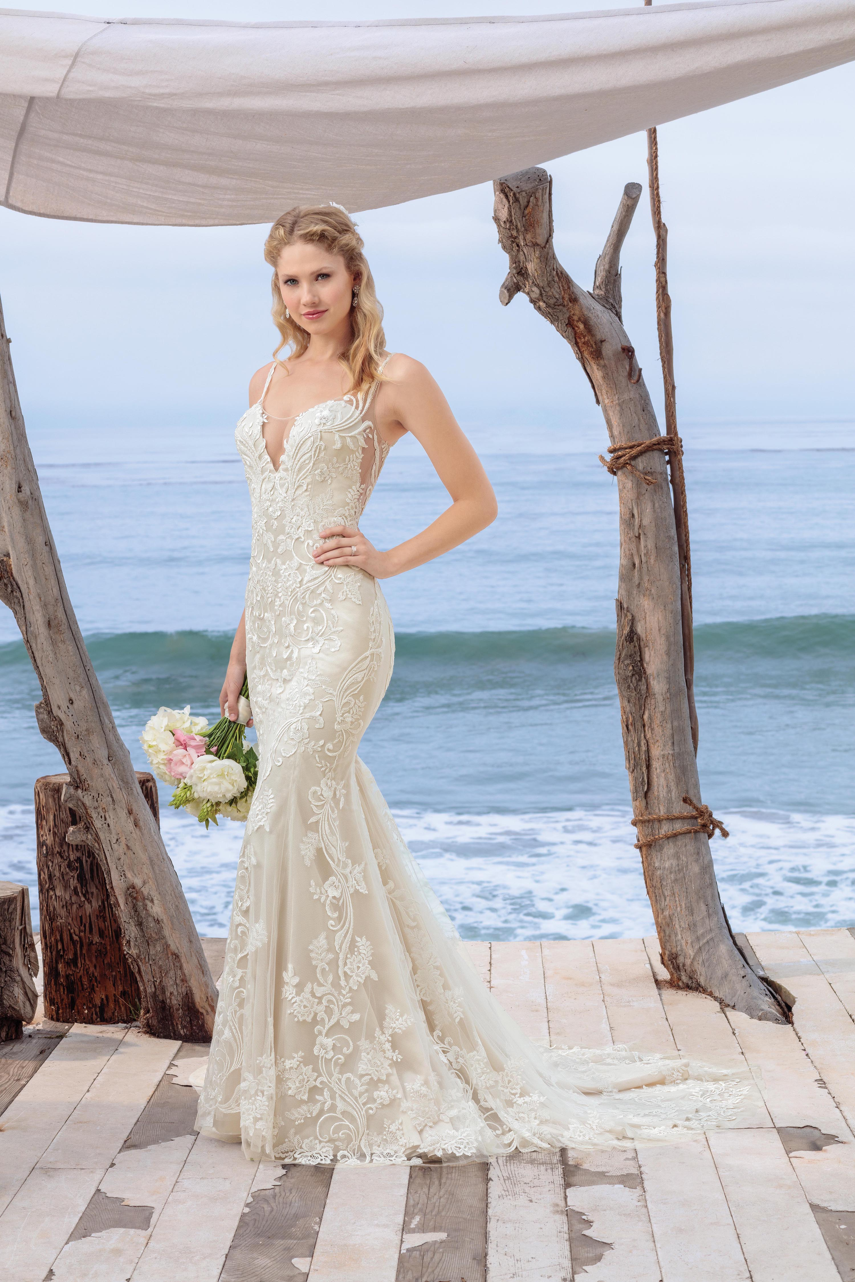 Beloved Bridal by Casablanca Style Spotlight BL260 Shipley Lace Swirl Fit and Flare